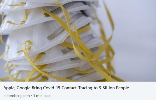 Apple, Google Bring Covid-19 Contact-Tracing to 3 Billion People