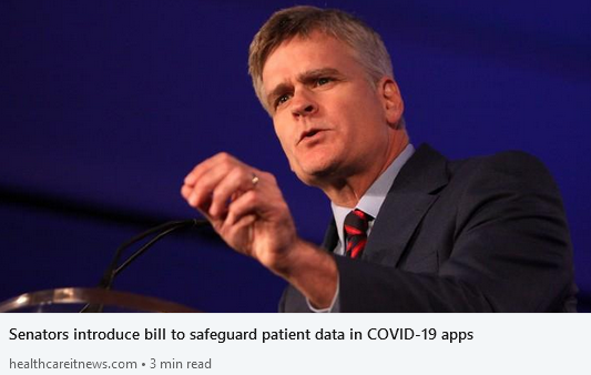 Senators introduce bill to safeguard patient data in COVID-19 apps